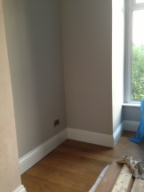 Tuscan floor, All White skirting and Cornforth White walls