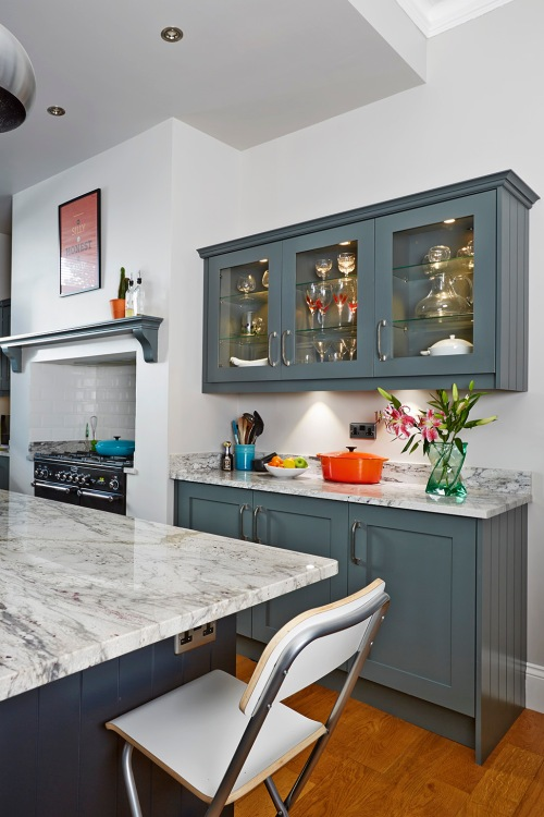 Farrow and Ball Downpipe kitchen
