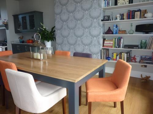 Multi colour dining chairs