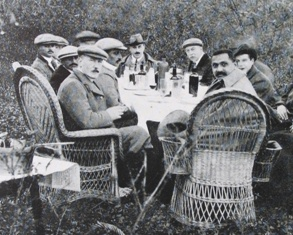 Edwardian shooting party