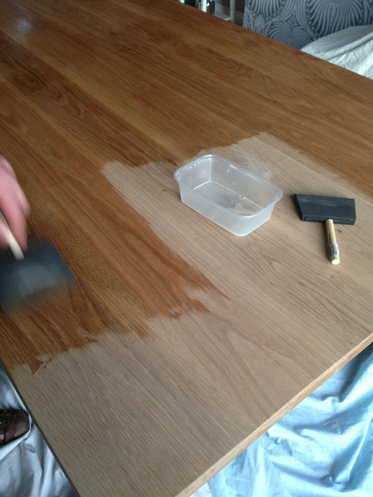 How To Varnish A Table That Was Waxed Making A House Our