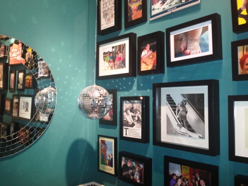 Disco loo gallery wall with Dulux Proud Peacock