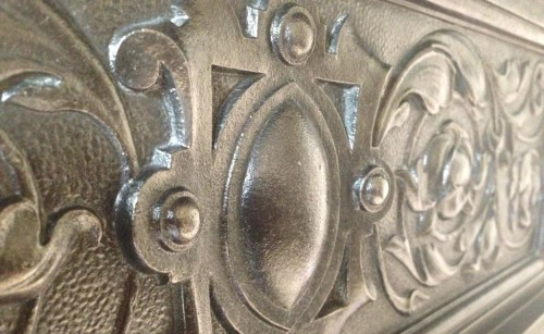 cast iron fireplace detail