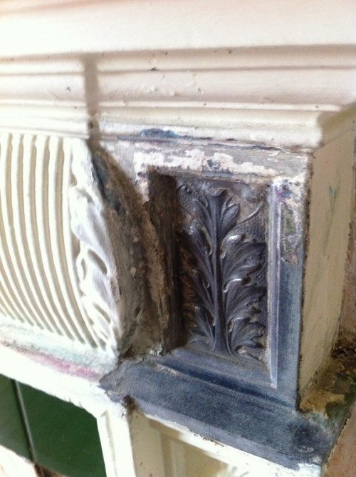 Cast iron fireplace nitromors