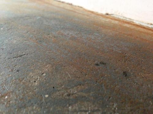 Rust on a cast iron period fireplace