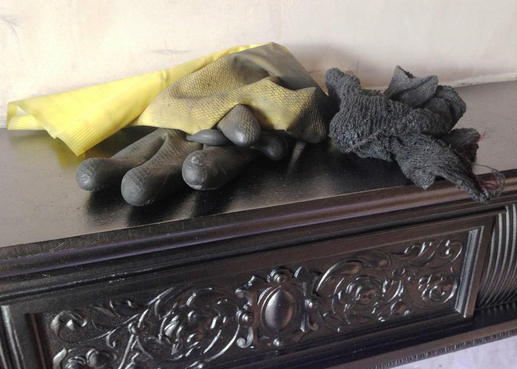 How To Restore A Cast Iron Fireplace Part 3 The Reveal