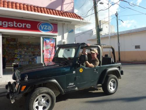 Oly loved the jeep