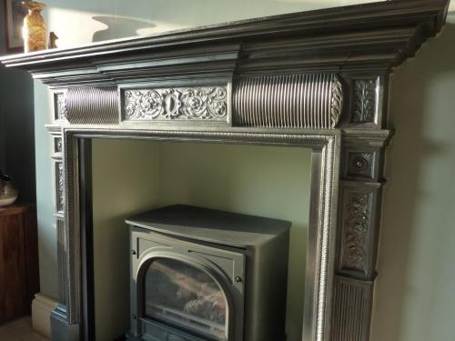 Edwardian cast iron fireplace restored