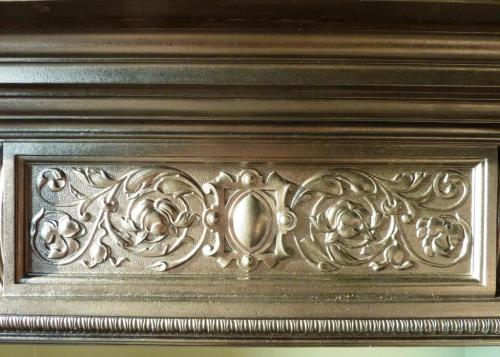 Edwardian cast iron fireplace restored