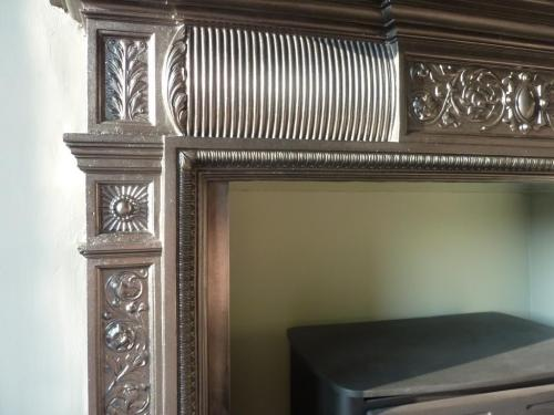 Edwardian period cast iron fireplace restoration