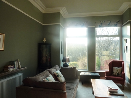 Farrow and Ball Pigeon living room