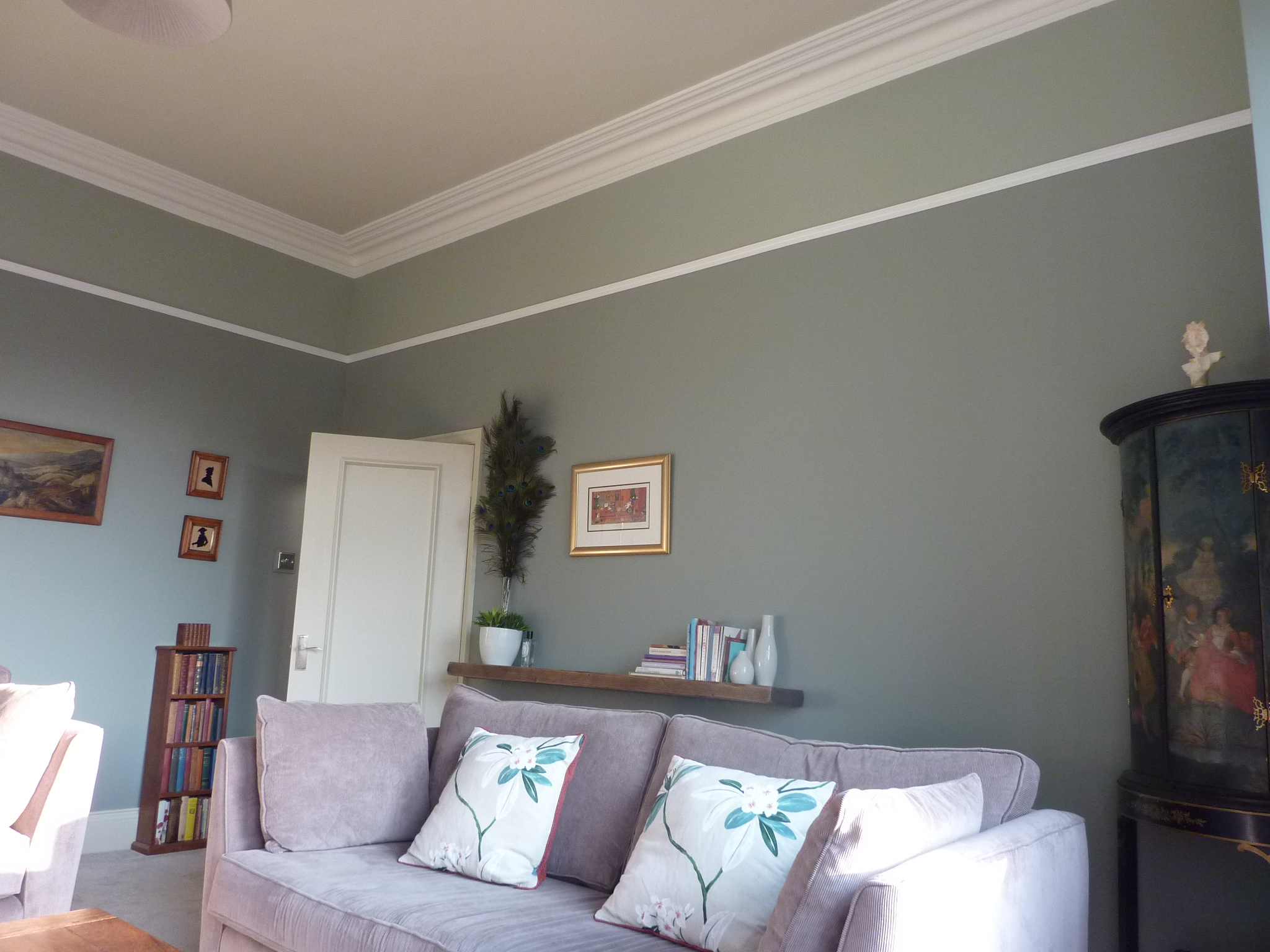 Sitting Room Farrow And Ball Pigeon Blue Gray Off White Pointing Part 96