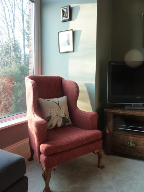 Farrow and Ball Pigeon Chiswick red Sanderson