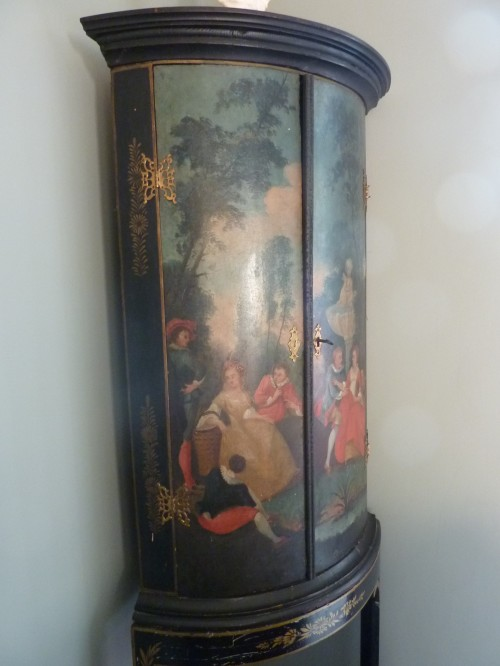 Antique painted corner cabinet