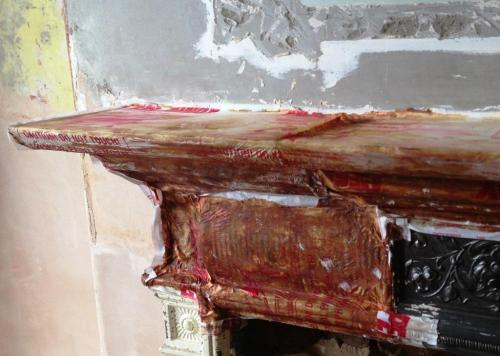 Peelaway stripper cast iron period fireplace paint