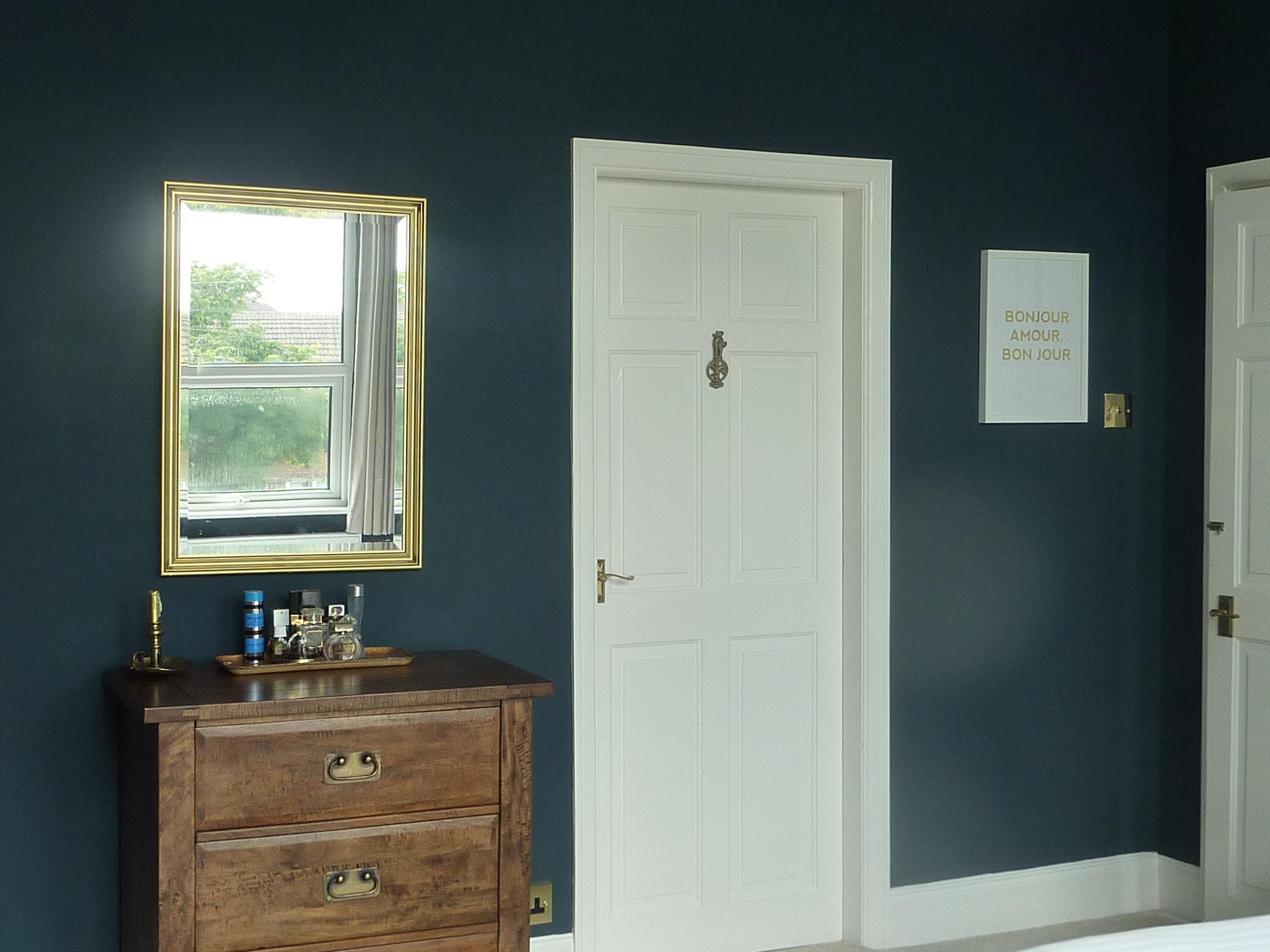 master bedroom reveal making a house our home. Black Bedroom Furniture Sets. Home Design Ideas