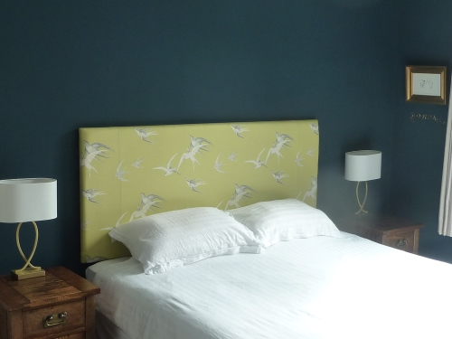 Bedside touch lamps are from John Lewis