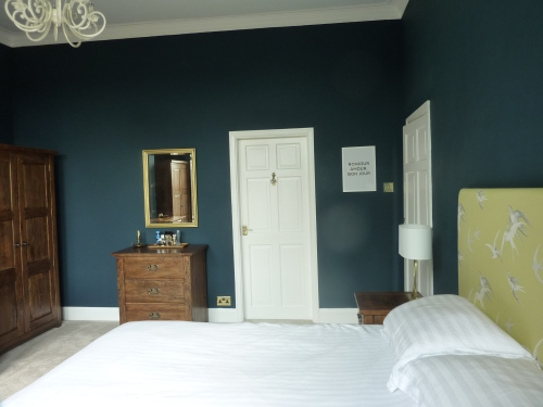 Farrow and Ball Hague Blue bedroom