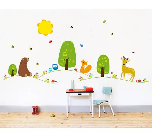 nubie forest wall sticker